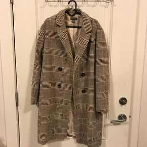 Jackets & Blazers - Plaid Double Breasted Jacket